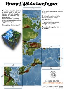 Cartogram Cubic Globe