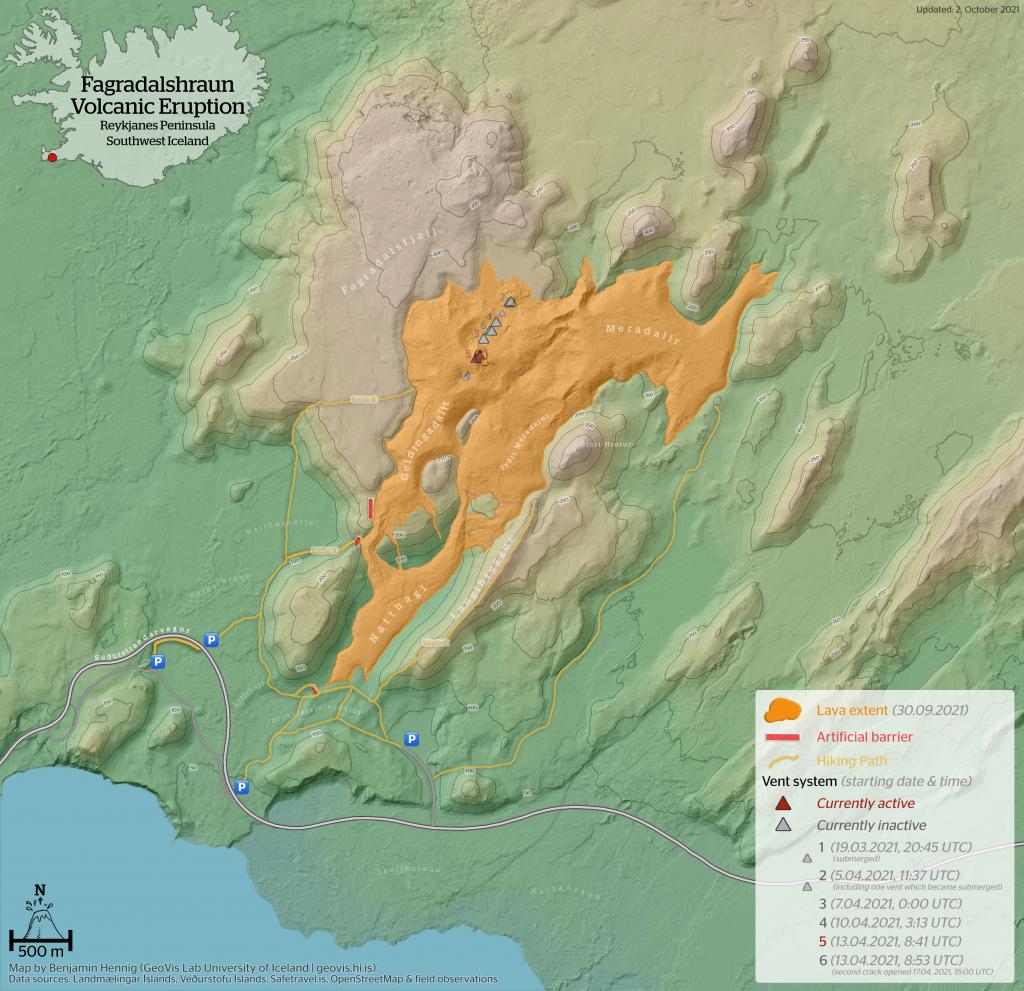 Fagradalshraun Lava Flow Map